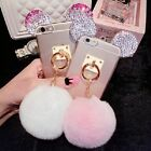 Cute Bling Diamonds Mickey Rabbit Tail Ring Soft Case Cover for iPhone 6/6S Plus