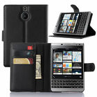 Leather Flip Cover Card Wallet Stand Case For BlackBerry Passport Silver Edition