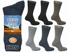 6 Mens David James BIG FOOT Cotton Blend Outdoor Walking Hike Socks UK 11-13