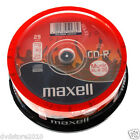 628529 25 Maxell Audio CD-R 80 Minuti Music XL2 48X Cakebox 4902580502362