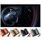 DIY Car Auto Steering Wheel Cover Leather Non-Slip 38cm /15'' w/ Needle Thread $5.98 USD on eBay