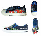 Boys Kids Marvel Avengers Canvas Trainers Shoes Toddler Children Size UK 7 - 1