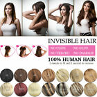 Invisible wire crown hair extension one piece 100% human hair thick Halo Hair