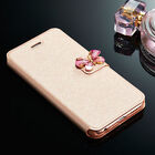 Luxury Butterfly Magnetic Flip Cover Stand Wallet Leather Case Cover For Phone