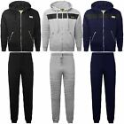 New Mens Tracksuit Set Fleece Hoodie Top Bottoms Jogging Joggers Track Suit DLX