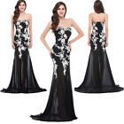 Applique Long Evening Formal PARTY Ball Gown Bridesmaid Prom COCKTAIL Maxi Dress