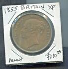 GREAT BRITAIN - BEAUTIFUL HISTORICAL QV PENNY, 1855