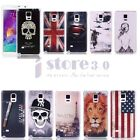Fashion Pattern 3D Relief Hard Case Cover Skin Protective F. Samsung Note 4 N910