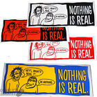 "REAL SKATEBOARDS ""Nothing is Real"" Skateboard Snowboard Sticker 13cm x1 Choose"