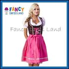 Womens Traditional German Pink Dirndl Oktoberfest Dress Costume