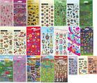 1 Sheet of Craft and Sparkle Stickers Ballet Dinosaur Aliens Cars Pirates Hearts