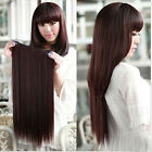 Clip In Remy 100%  Human Hair Extensions Full Head One Piece Thick Set 130g 160g