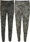 Plus Size Animal Print Leggings New Grey Womens Long Trouser Ladies Pants 12- 26