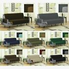 REVERSIBLE MICROFIBER PET COUCH SOFA FURNITURE PROTECTOR COVER BLACK GREY