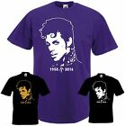 PRINCE T-Shirt Musik Memorial Tribute Music Shirt Farben purple und schwarz