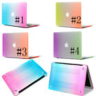 Rainbow shell Case Hard Cover For macbook air pro 11 13 15 with retina display