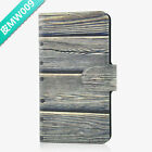 Hot New Wood Pattern PU Leather Flip Case Cover For Sony #09