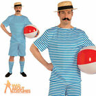 Adult Beachside Clyde Swimsuit Costume Mens 1940s Fancy Dress Outfit New