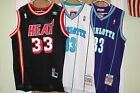 ALONZO MOURNING JERSEY THROWBACK CHARLOTTE HORNETS MIAMI HEAT NBA NEW