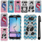 For Samsung Galaxy S6 G920 Design PATTERN BLING HARD Case Phone Cover + Pen