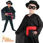 Child Bandit Costume Boys Zorro Highway Man Book Week Fancy Dress Outfit New