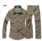6390 New 2pcs Women Quick-dry Clothes suit Outdoor Hiking Removable Shirt+ Pant