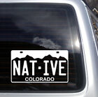 Colorado Native License Plate Vinyl Decal - fits cars and laptops sticker S131