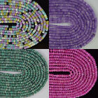 2mmx4mm Mulitcolor Faceted Jade Rondelle Stone Gems Spacer Loose Beads 15.5""