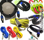 Colour Microphone Lead Mic Cable XLR Jack Patch Leads PA AMP Signal Leads