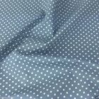 PALE BLUE colour POLKA DOT 100% cotton fabric  per FQ, half metre or metre