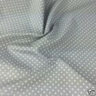 SILVER colour POLKA DOT 100% cotton fabric  per FQ, half metre or metre