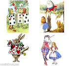"Alice in Wonderland four prints each 4"" x 6""choose photos/ stickers/transfers"
