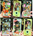 Bling Liquid Glitter Quicksand Disney Hard Clear Case Cover for iPhone 6/6S Plus