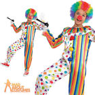 Child Clown Jumpsuit Boys Girls Circus Carnival Fancy Dress Outfit New