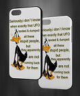 DAFFY DUCK UFO LANDED FUNNY GOOD QUOTES HARD PHONE CASE COVER H772