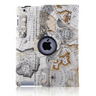 For Apple iPad 2 3 4/mini/Air Pro 360 Rotating PU Leather Smart Case Cover Stand