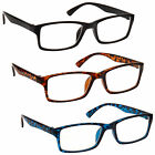The Reading Glasses Company Black Brown Blue Value 3 Pack Mens Womens RRR92-123