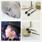1PAIR G-DRAGON GD BIGBANG titanium steel EARRGINGS KPOP NEW TAEYANG DAESUNG