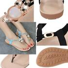 Womens Flat Sandals Owl Rhinestone Casual Herringbone Sandals Bohemian Shoes LA