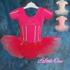 Bows Girl Ballet Tutu Dance Costume Dancewear Fluffy Fair Dress Size 2T-7 013