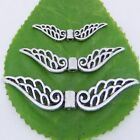 32mm 42mm 52mm Tibetan Silver Hollow Fancy Angel Wing Charms Spacer Beads Crafts