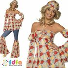 60s 70s DISCO HIPPIE VINTAGE HIPPY - UK 8-18 - womens ladies fancy dress costume