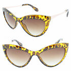 Womens Oversized Cat Eye Sunglasses Vintage Retro Rockabilly 50's Pinup