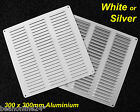 Large 300 x 300mm Aluminium Air Vent Grille Louvred - White or Silver