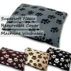 Supersoft Fleece Dog Pet Bed Cover Large + Filled Option - Zip & Washable