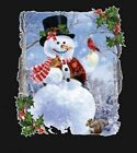 Snowman Shirt,  Jolly, Christmas, top hat, scarf & winter scene, Small - 5X,