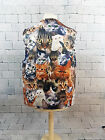 CATS ALL OVER DESIGN WACKY WAISTCOAT FUN FESTIVAL STAG PARTY FANCY DRESS