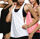 Sports Sexy Sleeveless Vest Women Quick-Drying Running Frock Tops Training Shirt