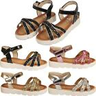 New Children Kids Girls Young Ladies Summer Party Glittery Sandals Shoes Sizes