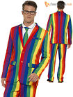 Mens Over the Rainbow Suit Adults 1980s 80s Novelty Fancy Dress Costume Outfit